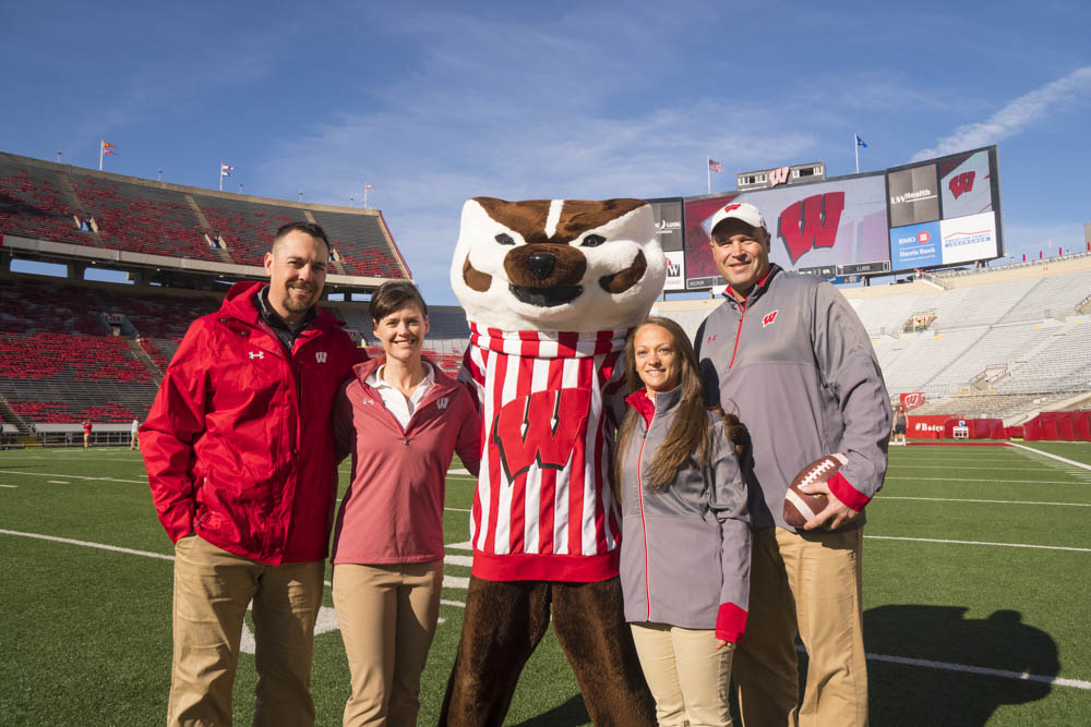 Bucky Badger with Fellows
