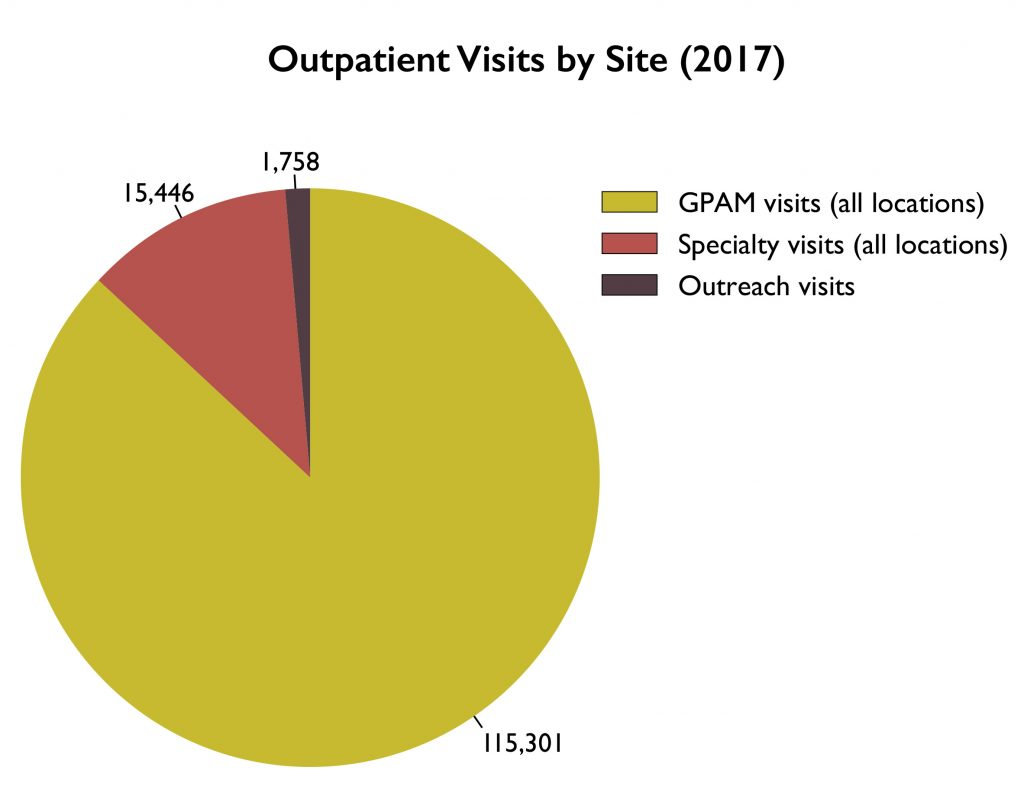 Outpatient Visits by Site 2017