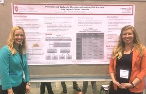 Residents Alexis Gumm, MD, and Jennie Godwin, MD and Poster