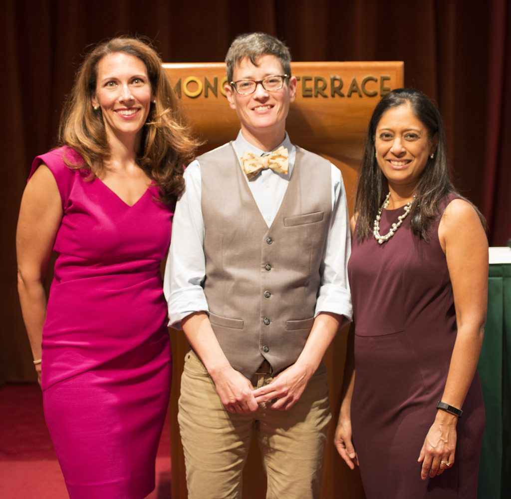 Above: Dr. Gonzalez (center) with Seminars in Pediatrics course directors Kristin Shadman, MD (left) and Mala Mathur, MD, MPH (right).