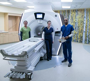 The MRI scanner in the new imaging pavilion.