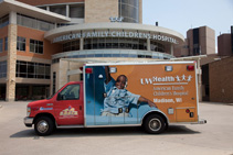 Ground-based transport is an essential part of critical care services at American Family Children's Hospital.