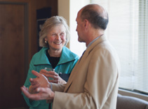 Ellen Stephenson and David Bernhardt, MD.